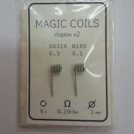 Magic Coils Fused Clapton (преднамотанные койлы + вата)