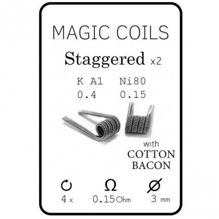 Magic Coils Staggered (преднамотанные койлы + вата)